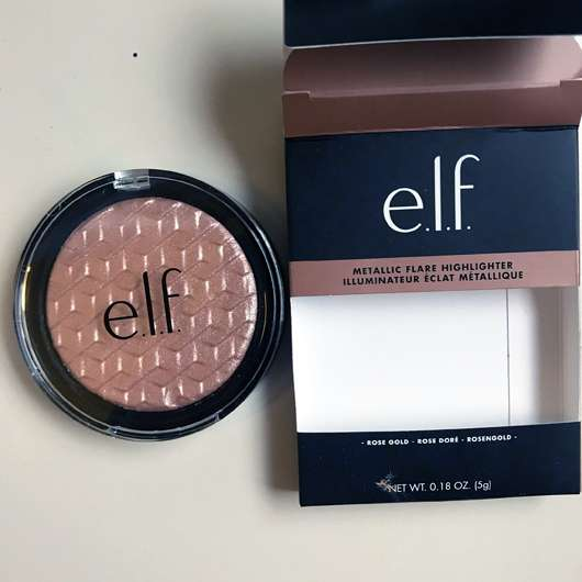 <strong>e.l.f. Cosmetics</strong> Metallic Flare Highlighter - Farbe: Rose Gold