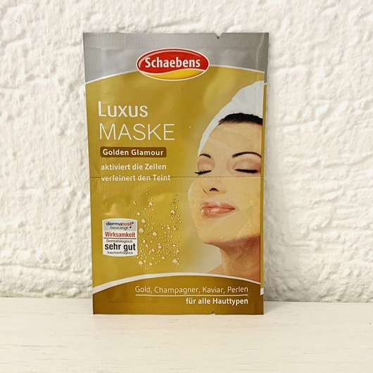"<strong>Schaebens</strong> Luxus Maske ""Golden Glamour"""