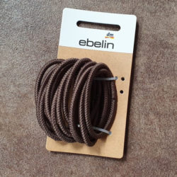 ebelin Struktur Haargummis, Farbe: Braun