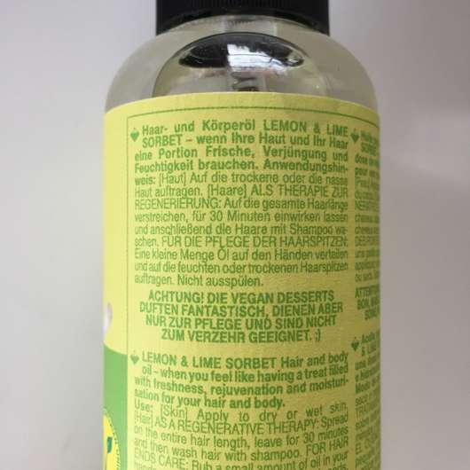 Vegan Desserts Lemon & Lime Sorbet Haar- & Körperöl