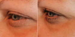 trend IT UP 10in1 Mascara - links: Wimpern ohne Mascara // rechts: Wimpern mit Mascara